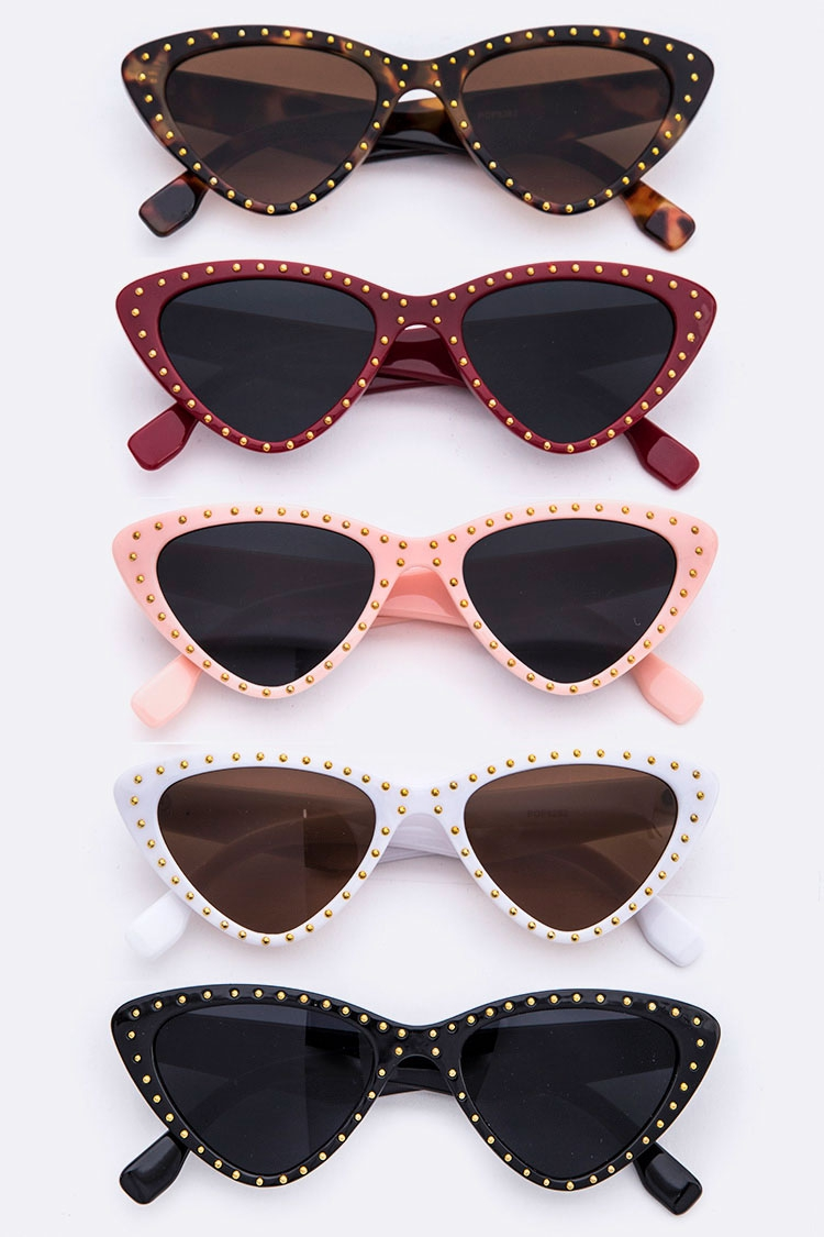 ca99eade9df LA JEWELRY PLAZA Wholesale Studs 80s Iconic Sunglasses