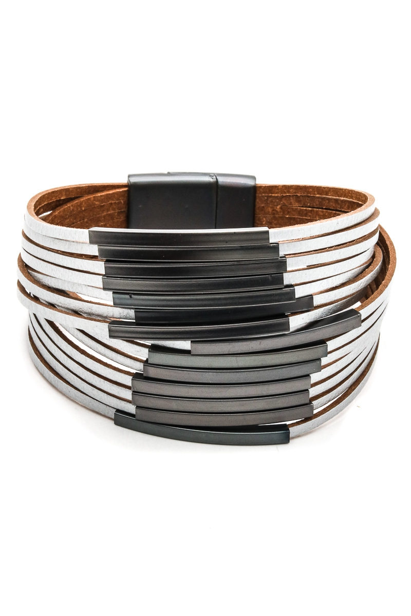 Vegan Leather Strapped Bracelets - orangeshine.com