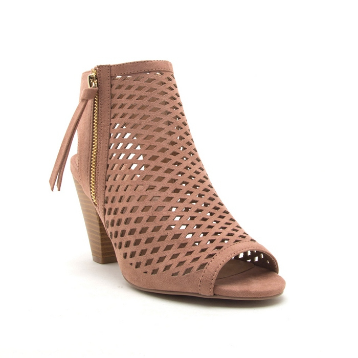 PEEP TOE ANKLE HIGH WRAPPED SANDAL - orangeshine.com
