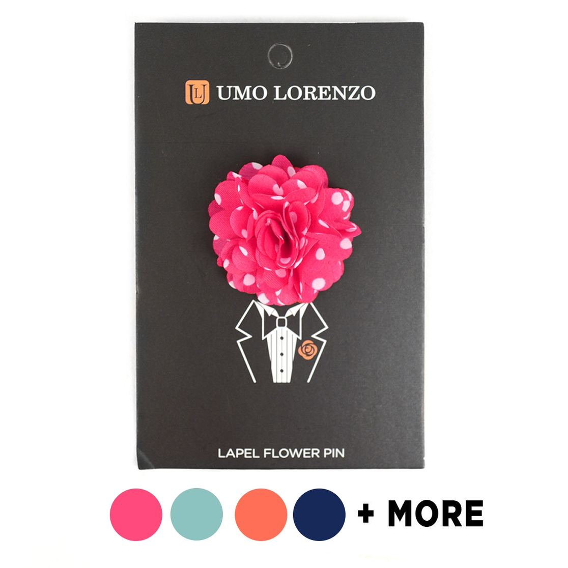 Men Polka Dot Boutonniere Lapel Pins - orangeshine.com
