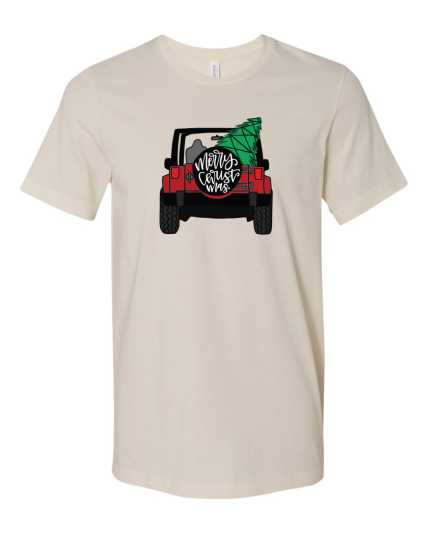 Merry Christmas Jeep Graphic Tee - orangeshine.com
