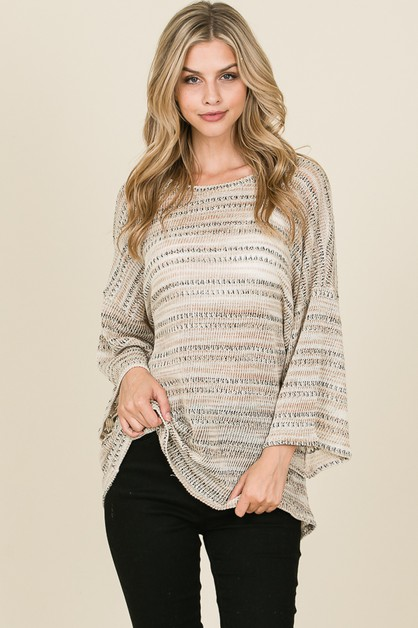 BELL SLEEVE LOOSE FIT TUNIC - orangeshine.com