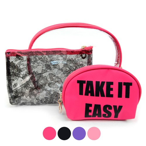 Ladies Take It Easy Make Up Pouch  - orangeshine.com