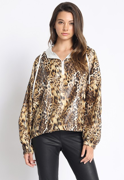 ANIMAL PRINT WIND BREAKER - orangeshine.com
