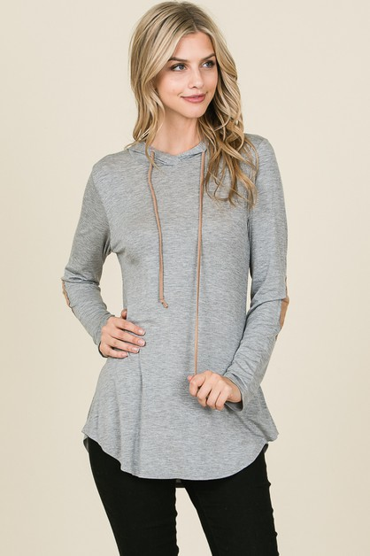 HOODED TOP WITH ELBOW PATCH - orangeshine.com