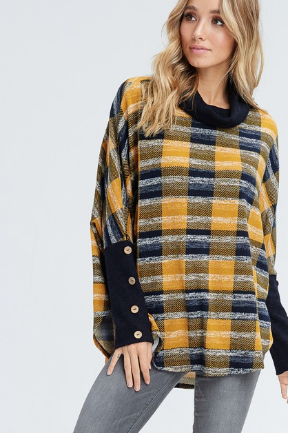 Oversize Cowl Neck Sweater - orangeshine.com