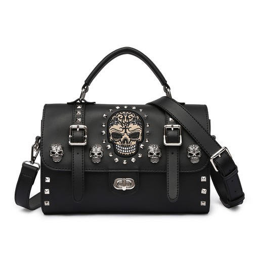 Biker Skull Riding Satchel Bag - orangeshine.com