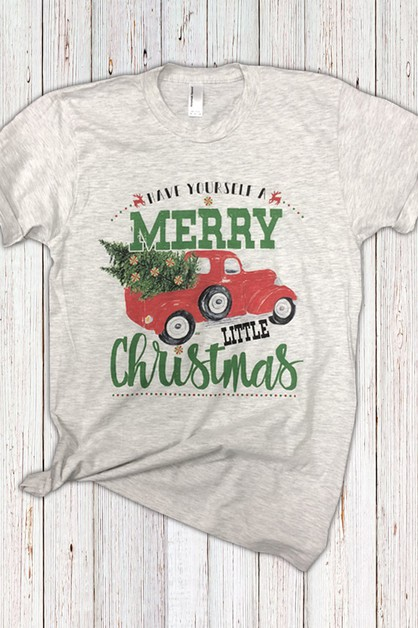 Merry Little Christmas Truck Tee - orangeshine.com