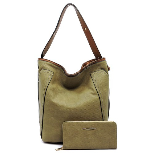 Textured 2-in-1 Shoulder Bag - orangeshine.com