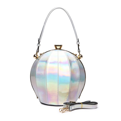 Shiny Top Handle Ball Bag - orangeshine.com
