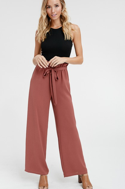 RUFFLED WIDE LEG PANTS - orangeshine.com