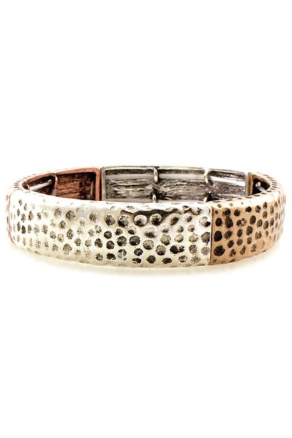 Mix Metal Stretch Bracelets - orangeshine.com