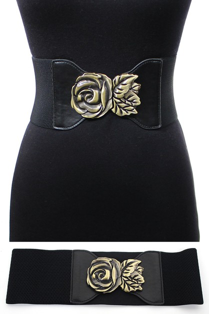 Elastic Rose Flower Belt - orangeshine.com