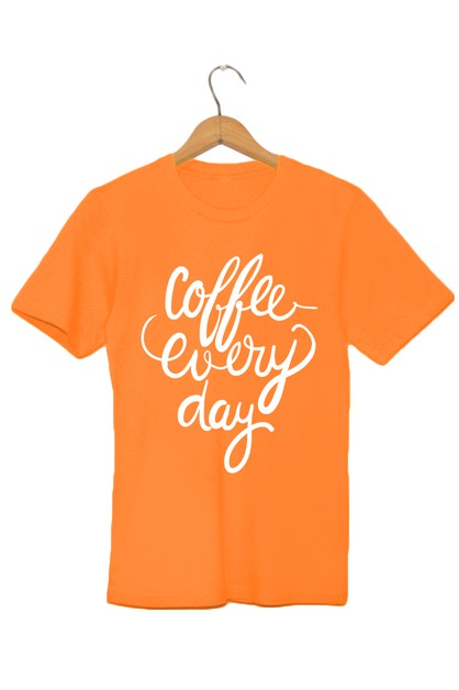Coffee Every Day Graphic Tee - orangeshine.com