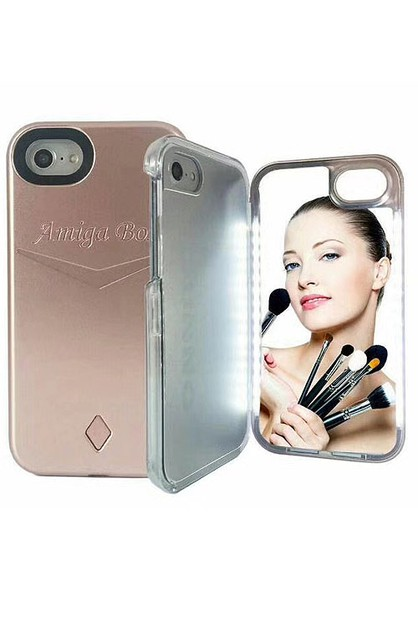 Iphone 7-8 LED  Make Up Mirror Case - orangeshine.com