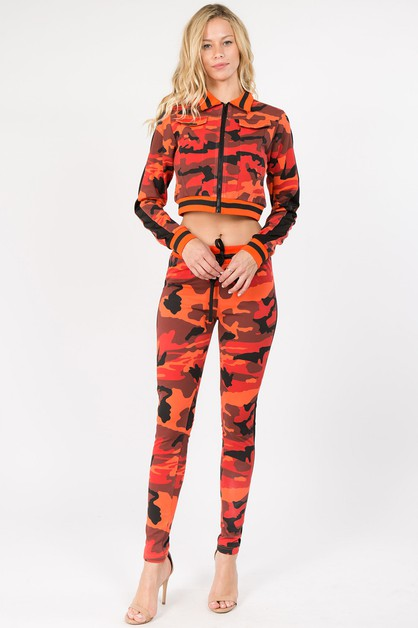 PLUS SIZE COLOR CAMO PRINTED SET - orangeshine.com