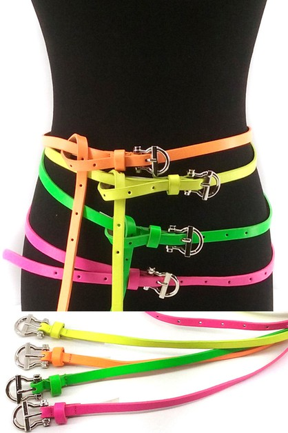skinny neon 4 pieces set belt - orangeshine.com