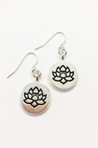 lotus earrings - orangeshine.com