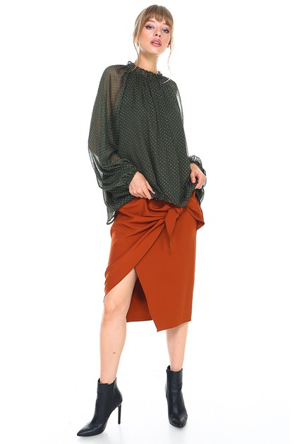 Self-Tie Wrap Skirt - orangeshine.com