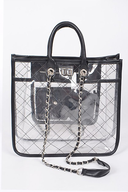 Cleared Quoted Fashion Tote - orangeshine.com