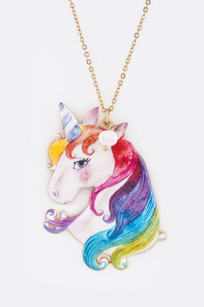 Unicorn Iconic Pendant Necklace Set - orangeshine.com