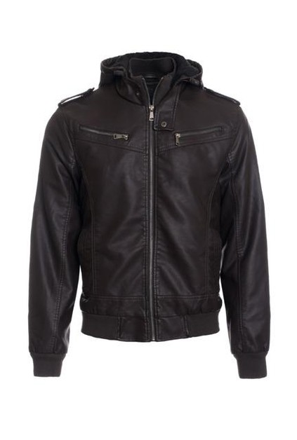 Hawks Bay Faux Leather Jacket - orangeshine.com