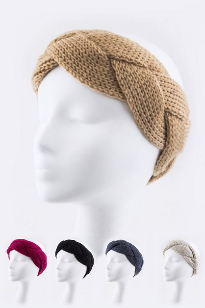 Braided Knit Headband - orangeshine.com