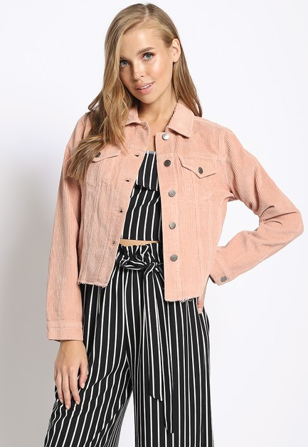 CROPPED TRUCKER JACKET - orangeshine.com