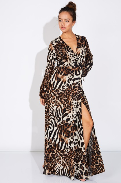 ANIMAL PRINT DRESS - orangeshine.com