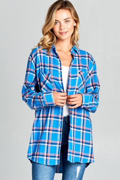 SOFT FLANNEL PLAID CHEST PKT SHIRTS - orangeshine.com