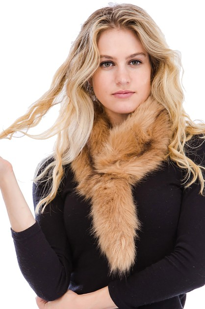 Tail Theme Soft Fur Scarf - orangeshine.com