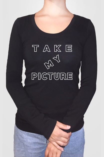 Take My Picture Long Sleeve Top - orangeshine.com