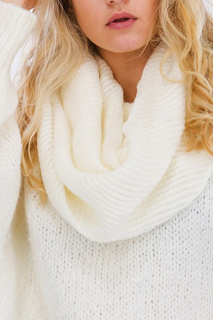 Solid Infinity Scarf 6 colors  - orangeshine.com