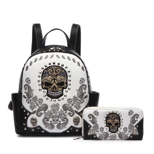Skull Paisley Backpack and Wallet - orangeshine.com