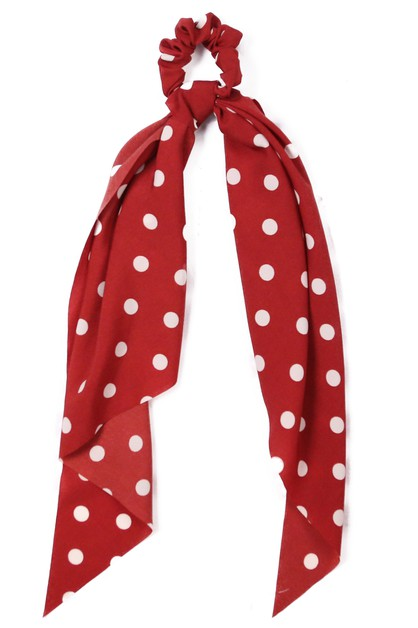 POLKA DOT RIBBON SCRUNCHIE  - orangeshine.com