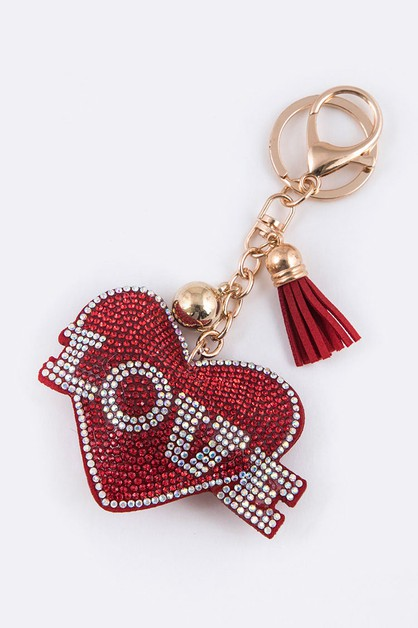 LOVE Crystal Heart Key Chain - orangeshine.com