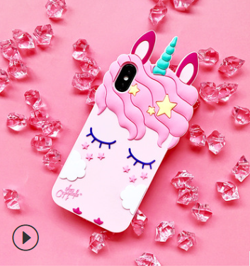 IPHONE 7-8 - Unicorn  Silicone Case - orangeshine.com