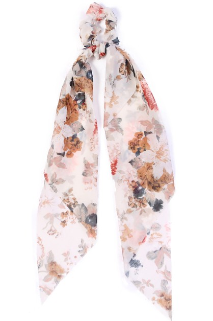 MULTI FLORAL SCRUNCHIE  - orangeshine.com