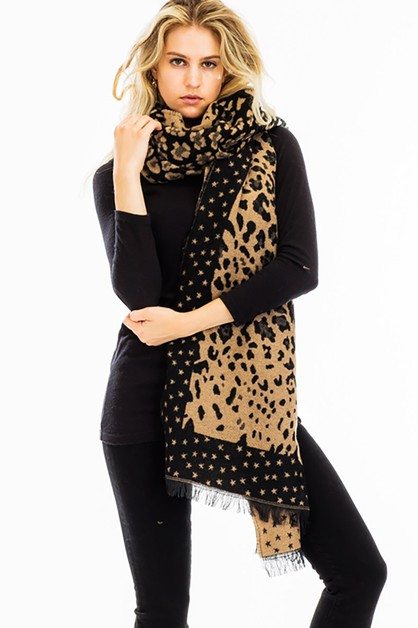 Animal Print Oblong Scarves - orangeshine.com