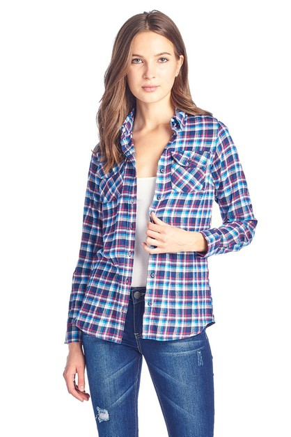 WOMENS LONG SLEEVE PLAID SHIRTS - orangeshine.com