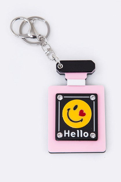 Emoji Bottle Mirror Key Chain - orangeshine.com