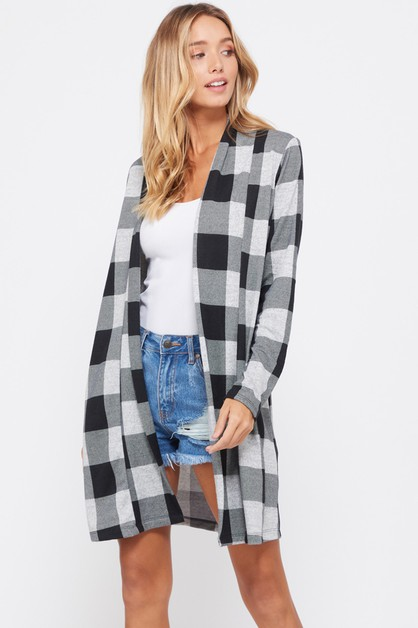 CHECKER CARDIGANS - orangeshine.com