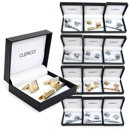 12pc Pack Cufflinks and Tie Bar Sets - orangeshine.com