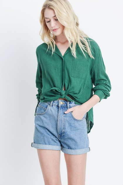 Oversized Button Down Top - orangeshine.com