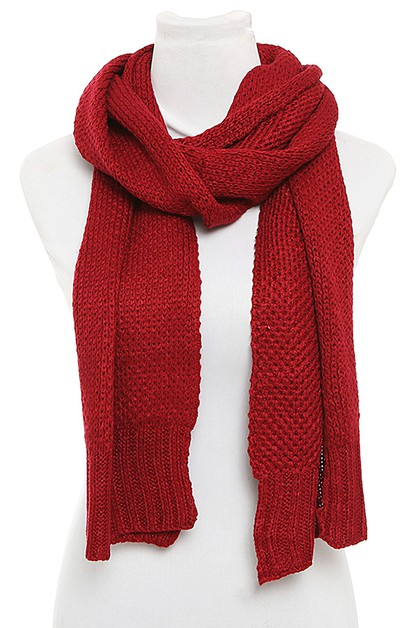 KNITTED OBLONG SCARF PACK - orangeshine.com