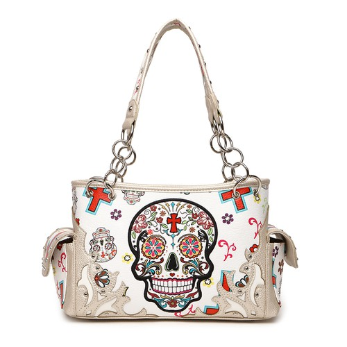 Sugar Skull Top Handle Bag - orangeshine.com