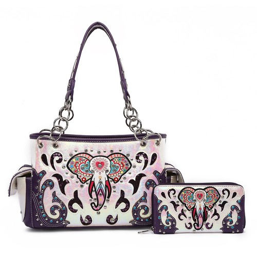 Colorful Elephant Satchel and Wallet - orangeshine.com