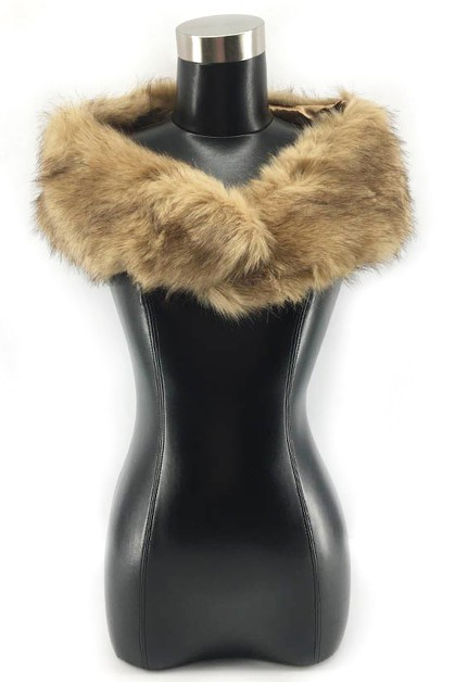 fur shawl scarf neck warmer - orangeshine.com