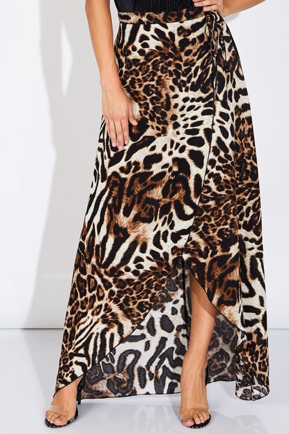 ANIMAL PRINT SKIRT - orangeshine.com