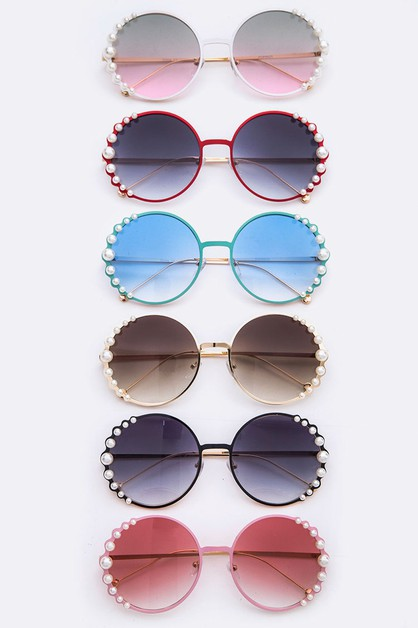 Pearl Accent Gradient Sunglasses - orangeshine.com
